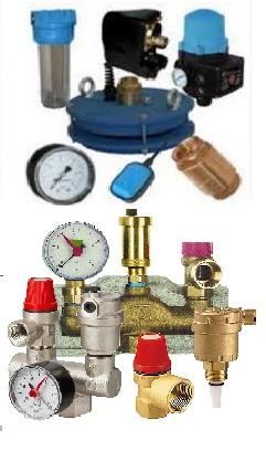 Комплектующие для систем водоснабжения и отопления