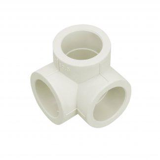 Тройник угловой 90°  (тройник двухплоскостной) белый