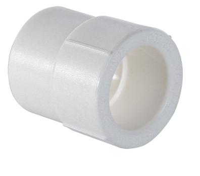 Муфта полипропиленовая переходная внутренняя/наружная белая