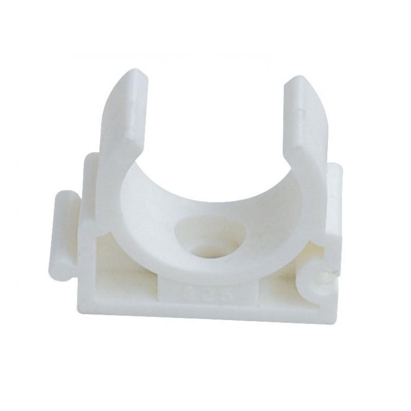 Опора (клипса) полипропиленовая для труб белая
