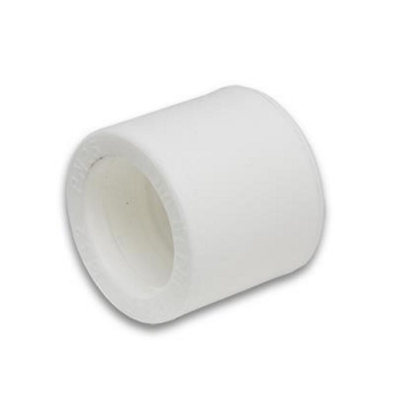 Муфта полипропиленовая соединительная белая